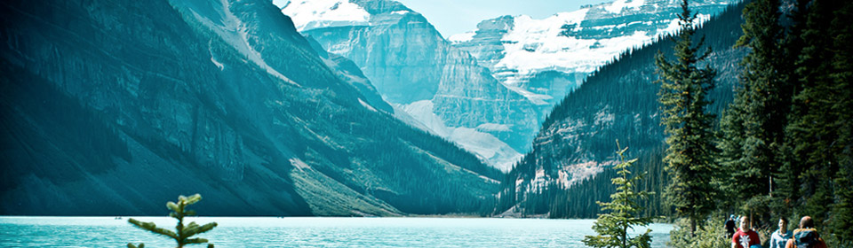 Mountains around Lake Louise